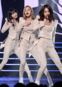 DALSHABET perform onstage during the Mnet 'M Count Down' at CJ EM Center on February 20 2014 in Seoul South Korea