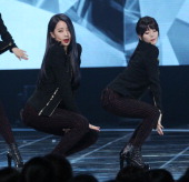 DALSHABET perform onstage during the Mnet 'M Count Down' at CJ EM Center on February 6 2014 in Seoul South Korea