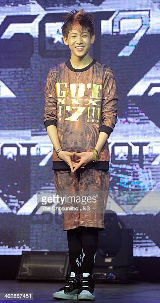 GOT7 perform onstage during their debut showcase at Daerim warehouse on January 15 2014 in Seoul South Korea