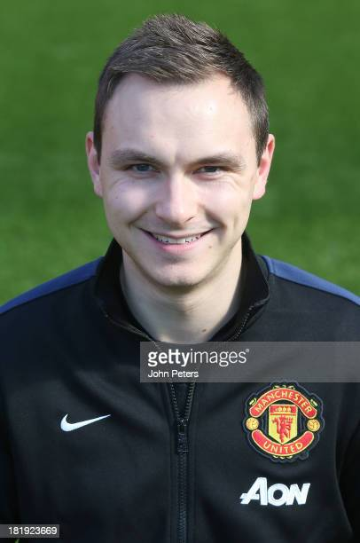 Performance Analyst Paul Brand of Manchester United poses at the annual club photocall at Old Trafford on September 26 2013 in Manchester England