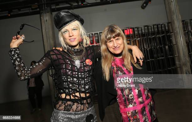 Performance artist Kate Crash and director Catherine Hardwicke attend the premiere of A24's 'Free Fire' after party on April 13 2017 in Los Angeles...