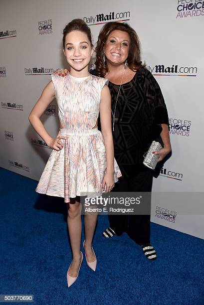Performance artist Maddie Ziegler and dance instructor Abby Lee Miller attend DailyMail's after party for 2016 People's Choice Awards at Club Nokia...