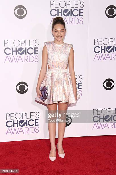 Performance artist Maddie Ziegler attends the People's Choice Awards 2016 at Microsoft Theater on January 6 2016 in Los Angeles California