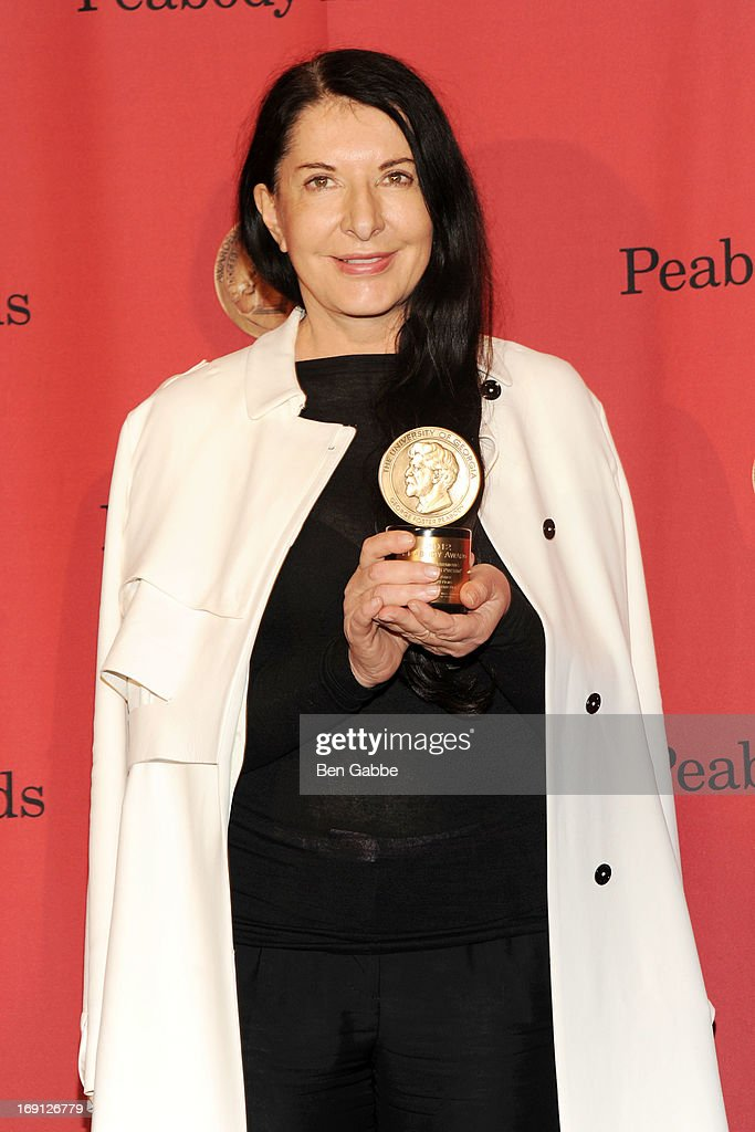Performance artist Marina Abramovic attends 72nd Annual George Foster Peabody Awards at The Waldorf=Astoria on May 20, 2013 in New York City.