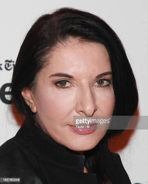 Performance artist Marina Abramovic attends her TimesTalk at TheTimesCenter on March 15 2013 in New York City