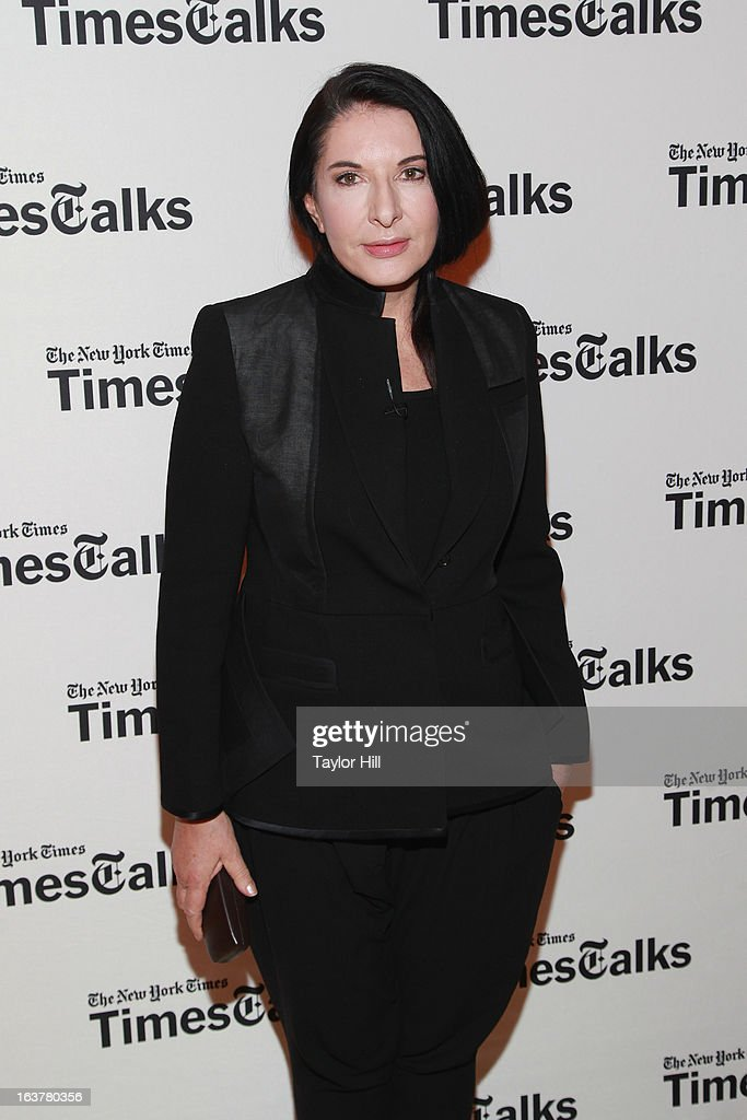Performance artist Marina Abramovic attends her TimesTalk at TheTimesCenter on March 15, 2013 in New York City.