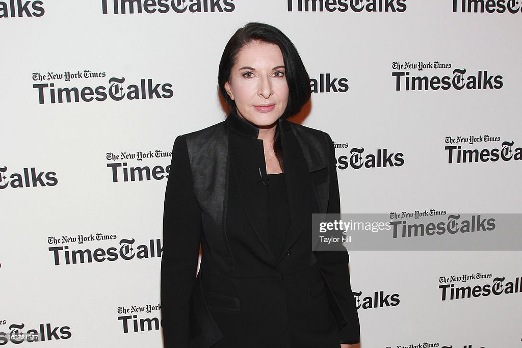 Performance artist <a gi-track='captionPersonalityLinkClicked' href=/galleries/search?phrase=Marina+Abramovic&family=editorial&specificpeople=2315598 ng-click='$event.stopPropagation()'>Marina Abramovic</a> attends her TimesTalk at TheTimesCenter on March 15, 2013 in New York City.