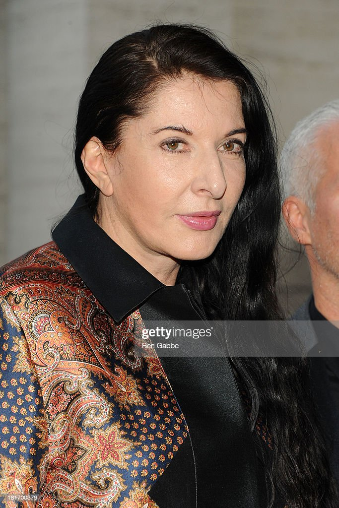 Performance artist <a gi-track='captionPersonalityLinkClicked' href=/galleries/search?phrase=Marina+Abramovic&family=editorial&specificpeople=2315598 ng-click='$event.stopPropagation()'>Marina Abramovic</a> attends the Metropolitan Opera season opening production of 'Eugene Onegin' at The Metropolitan Opera House on September 23, 2013 in New York City.