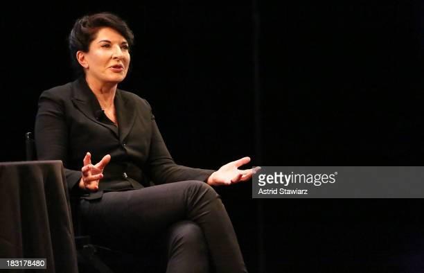 Performance artist Marina Abramovic speaks at The New Yorker Festival 2013 In Conversation Marina Abramovic Talks With Judith Thruman at Florence...