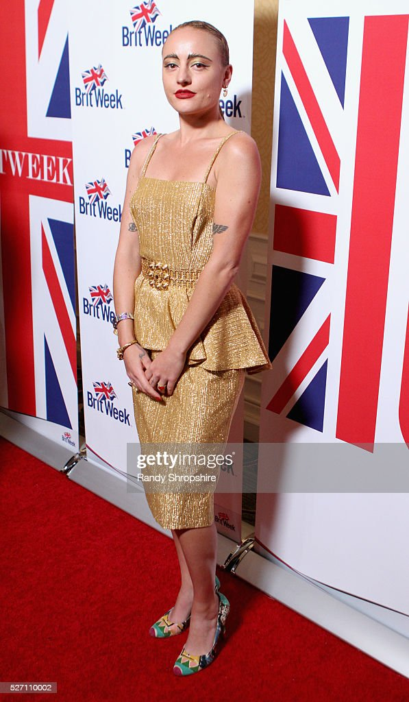 Performance artist <a gi-track='captionPersonalityLinkClicked' href=/galleries/search?phrase=Millie+Brown+-+Artist&family=editorial&specificpeople=15442698 ng-click='$event.stopPropagation()'>Millie Brown</a> attends BritWeek's 10th Anniversary VIP Reception & Gala at Fairmont Hotel on May 1, 2016 in Los Angeles, California.