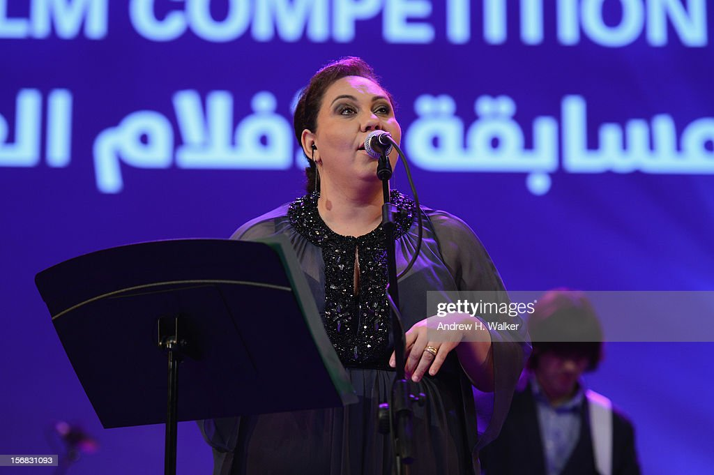 A performance at the Awards Ceremony at the Al Rayyan Theatre during the 2012 Doha Tribeca Film Festival on November 22, 2012 in Doha, Qatar.