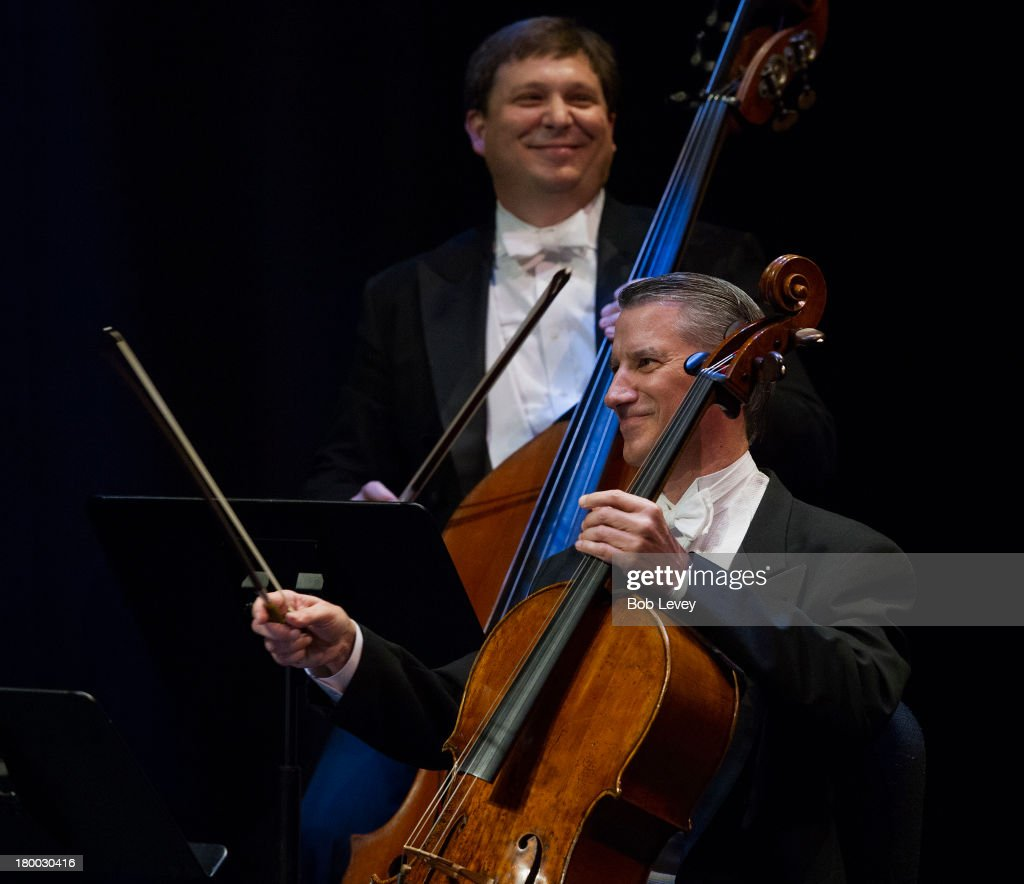 Performance by The Houston Symphony during The UNICEF Audrey Hepburn Society Ball at Wortham Center Brown Theater on September 6, 2013 in Houston, Texas.