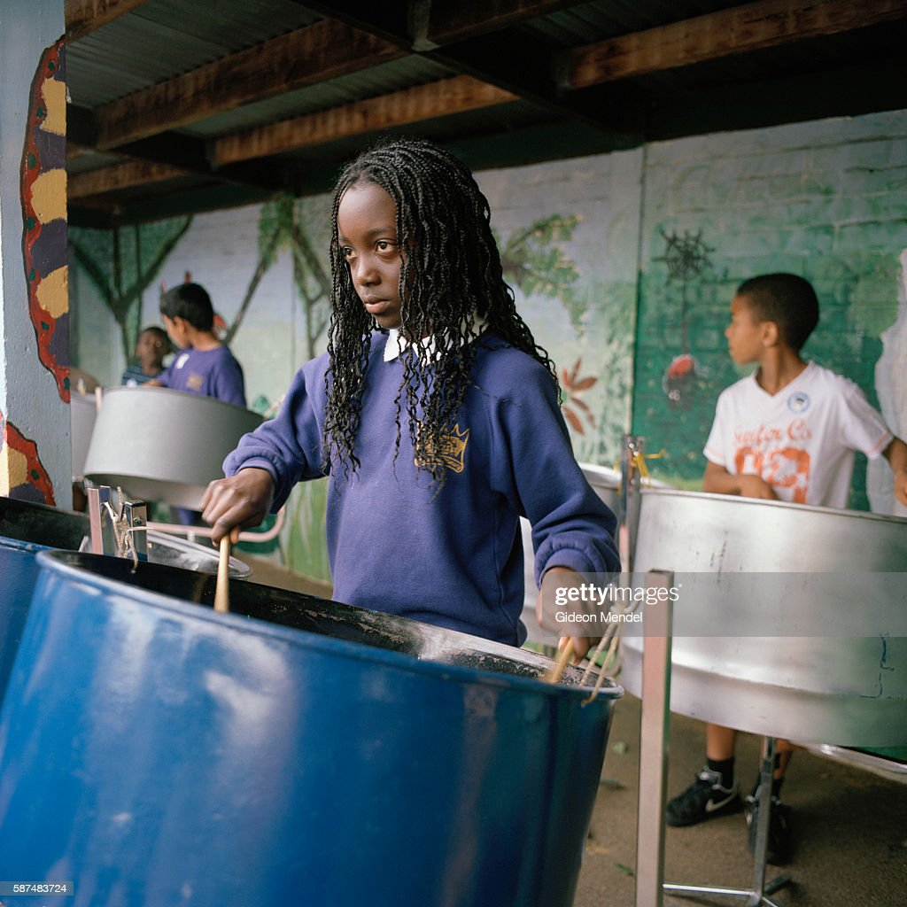 A performance by the steel band at Kingsmead Primary School during a school fete The school primarily serves children who live on the Kingsmead...