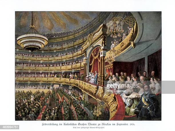 Performance in the Bolshoi Theatre Moscow Russia attended by Tsar Alexander II during his coronation celebrations September 1856