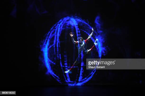 A performance is seen ahead of the draw during the Final Draw for the 2018 FIFA World Cup Russia at the State Kremlin Palace on December 1 2017 in...
