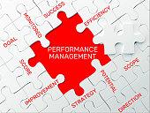 Performance Management - Puzzle Concept