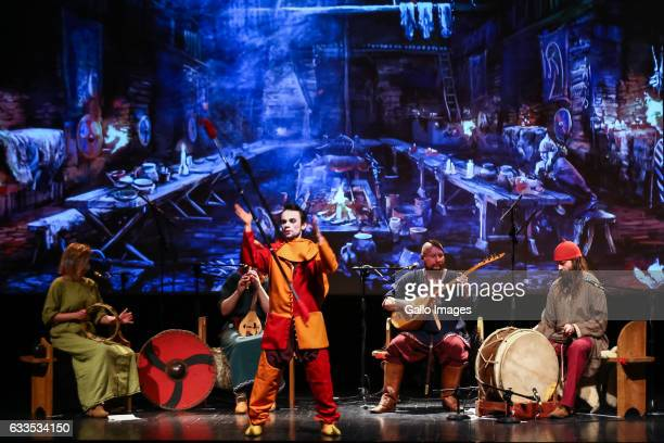 A performance of Percival during the inauguration of the campaign called programujgovpl on January 31 2017 in Warsaw Poland The campaign is organized...