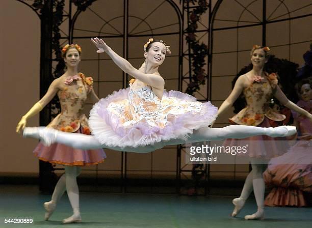 Performance of Pyotr Ilyich Tchaikovsky's ballet 'The Sleeping Beauty' in the Deutsche Oper Berlin Scene with Diana Vishneva choreography and...