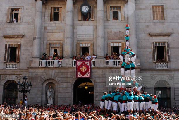 Performance of the Castellers (human towers) of Vilafranca
