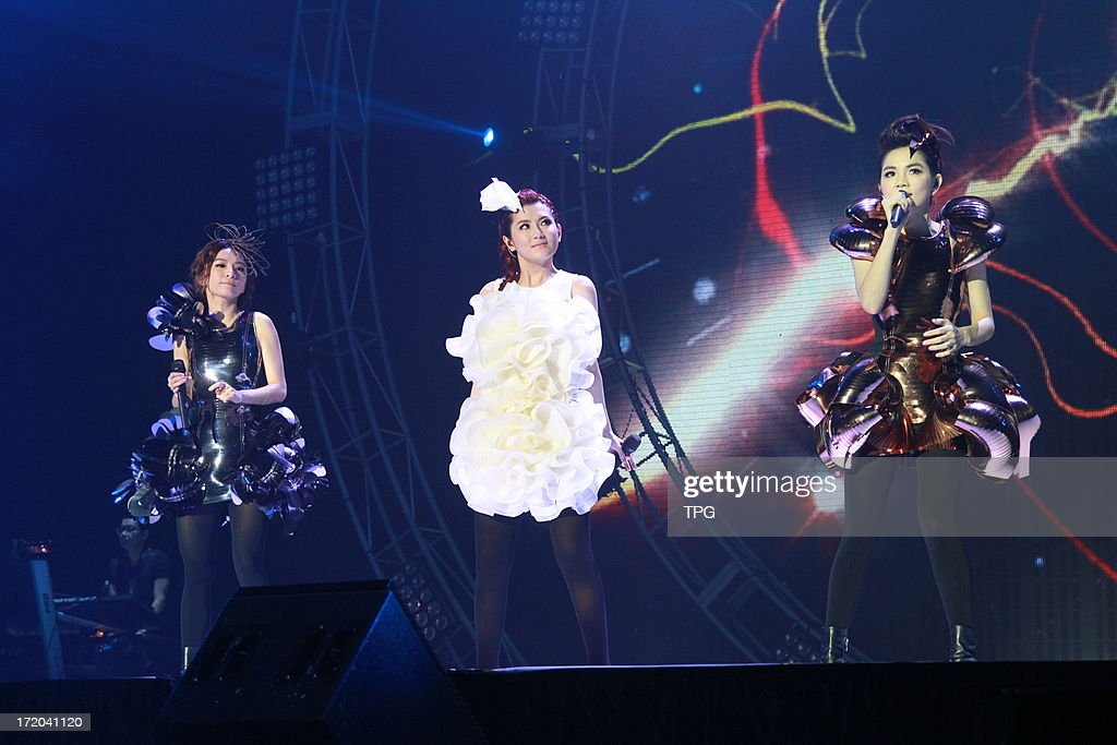 SHE performed at boy group Magic Power's concert on Sunday June 30, 2013 in Taipei, Taiwan, China.