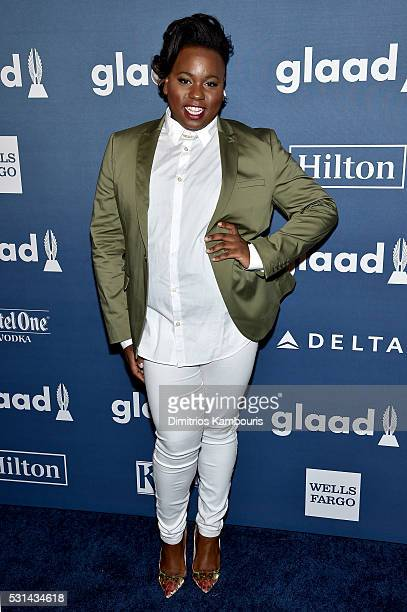 Performer Alex Newell attend the 27th Annual GLAAD Media Awards in New York on May 14 2016 in New York City