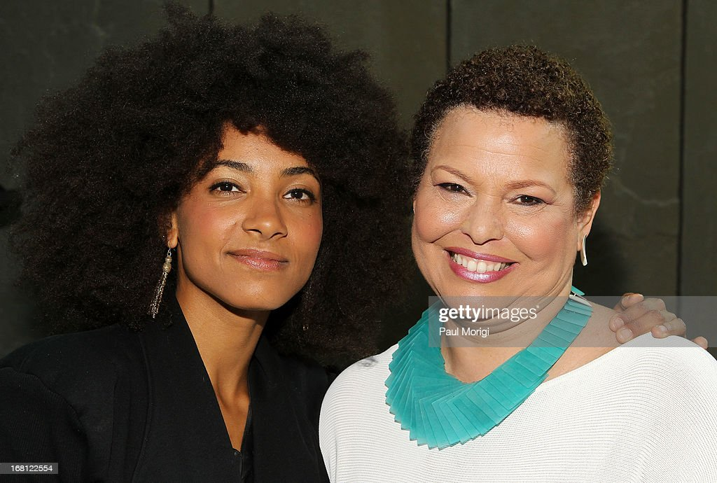 Performer and 3-time GRAMMY Award winner Esperanza Spalding (L) and Debra Lee, Chairman & CEO, BET Networks, pose for a photo at the GRAMMY Foundation - Debra Lee house concert with Esperanza Spalding at Private Residence on May 5, 2013 in Washington, DC.