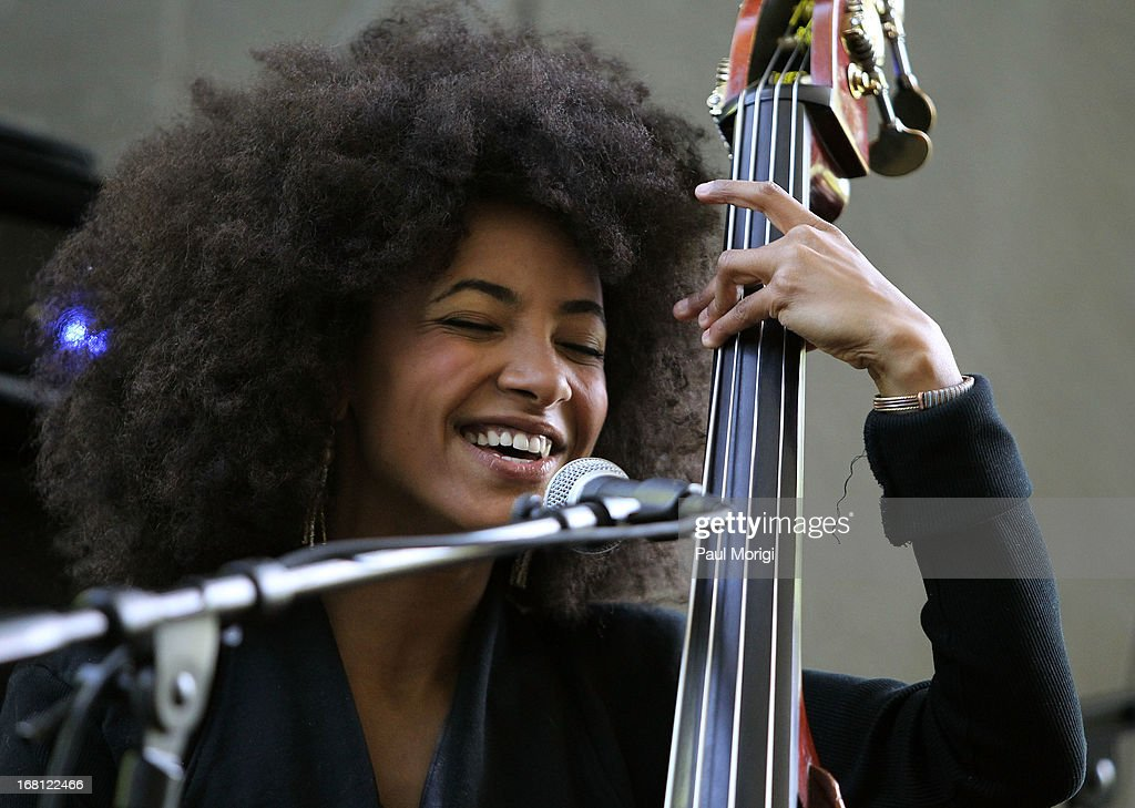 Performer and 3-time GRAMMY Award winner Esperanza Spalding performs at the GRAMMY Foundation - Debra Lee house concert with Esperanza Spalding at Private Residence on May 5, 2013 in Washington, DC.