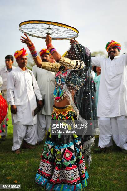 Performer at the Jaipur Elephant Festival, Rajasthan, India