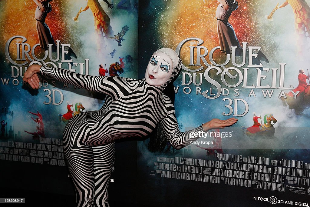 A performer attends 'Cirque Du Soleil: Worlds Away' New York Special Screening at Regal E-Walk on December 20, 2012 in New York City.