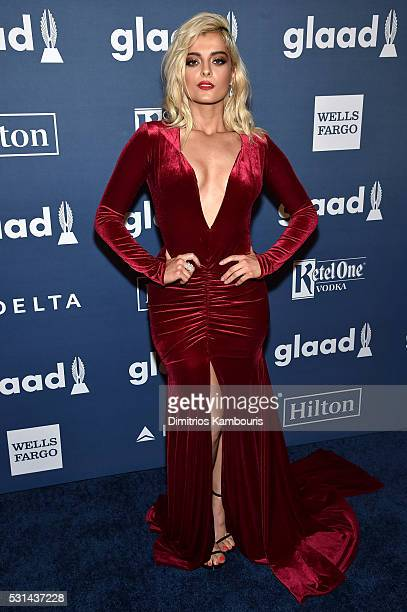 Performer Bebe Rexha attends the 27th Annual GLAAD Media Awards in New York on May 14 2016 in New York City