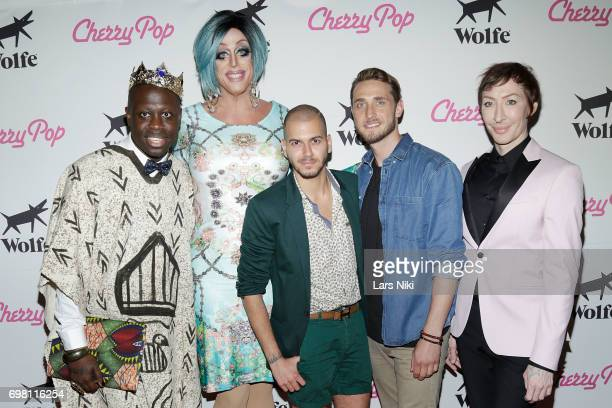 Performer Bob the Drag Queen Performer Tempest Dujour Director Assaad Yacoub Actor Lars Berge and Performer Detox attend the Cherry Pop Premiere at...