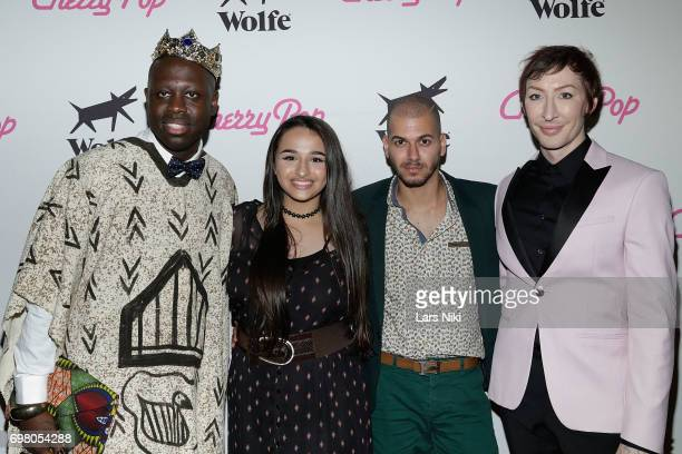 Performer Bob the Drag Queen YouTube Personality Jazz Jennings Director Assaad Yacoub and Performer Detox attend the Cherry Pop Premiere at OutCinema...