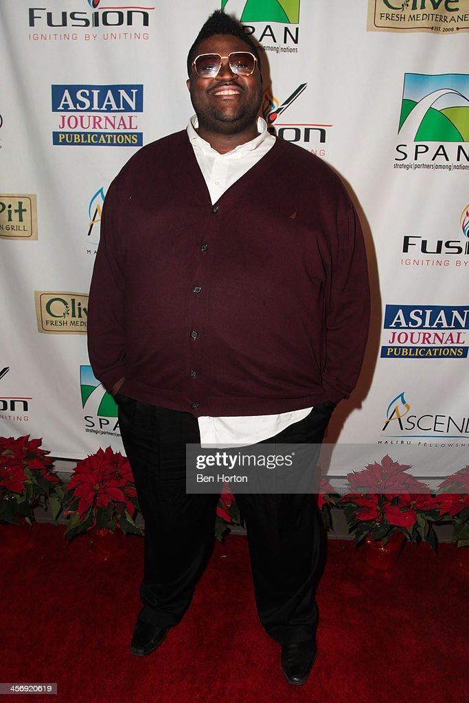Performer Charles Jones attends the Span Philippines Relief And Fusion Global Fundraiser at Malibu West Beach Club on December 15, 2013 in Malibu, California.