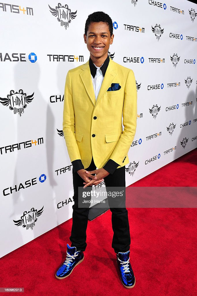 Performer Cody Wise arrives at will.i.am's Annual TRANS4M Concert Benefitting i.am.angel Foundation on February 7, 2013 in Hollywood, California.
