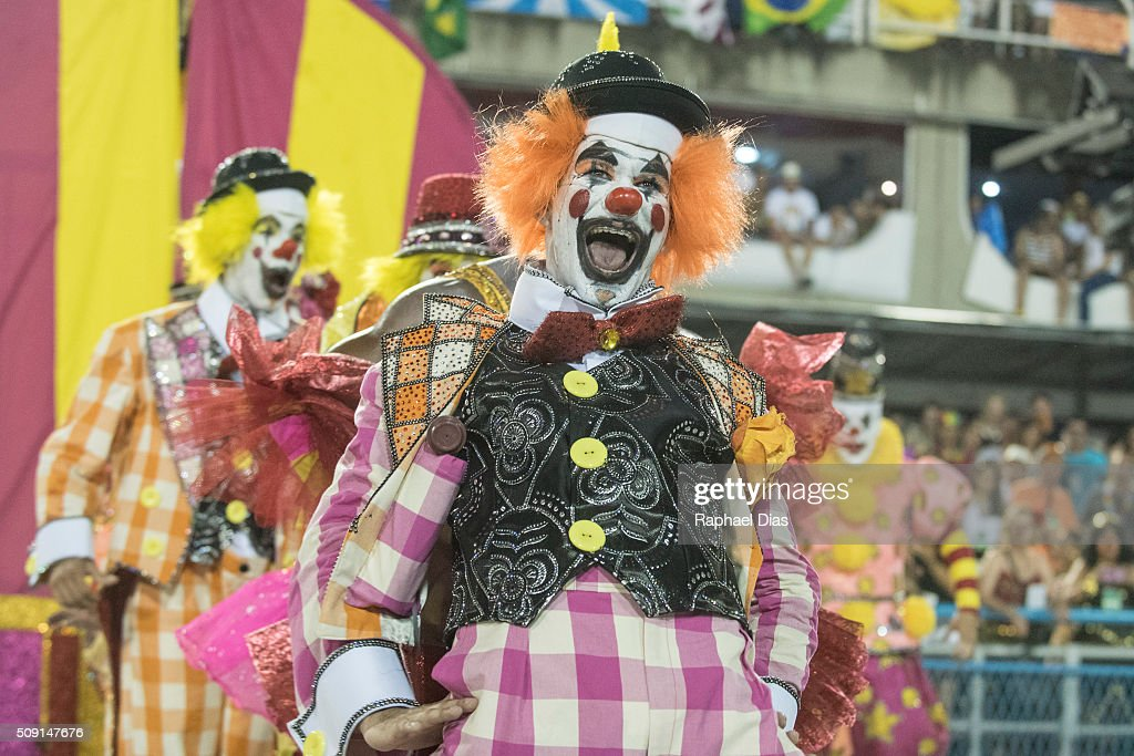 A performer dances during Sao Clemente performance at the Rio Carnival in Sambodromo on February 8, 2016 in Rio de Janeiro, Brazil. Despite the Zika virus epidemic, thousands of tourists gathered in Rio de Janeiro for the carnival.