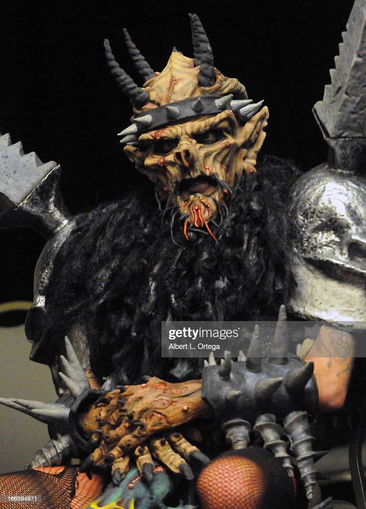 Performer Dave Brockie AKA Oderus Urungus of GWAR attends 2013 Monsterpalooza held at The Burbank Marriott Hotel & Convention Center on April 13, 2013 in Burbank, California.