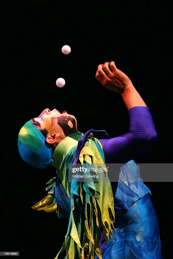A performer from Cirque Du Soleil performs at the Dress Rehearsal for 'Varekai' at The Oval Melbourne Park on April 18 2007 in Melbourne Australia