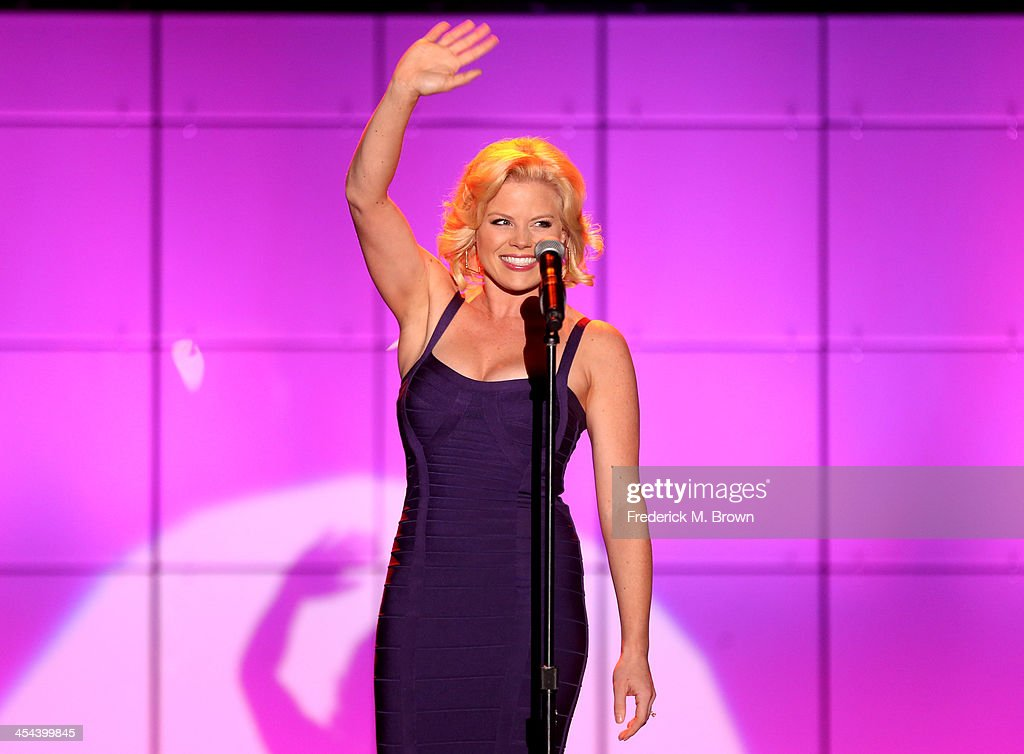 Performer Megan Hilty performs onstage at 'TrevorLIVE LA' honoring Jane Lynch and Toyota for the Trevor Project at Hollywood Palladium on December 8...