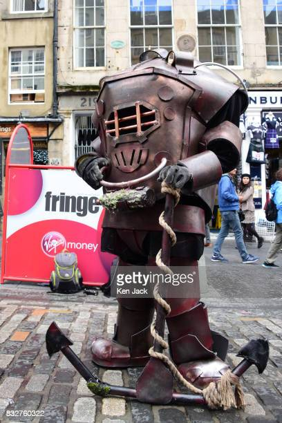 A performer on the Royal Mile during the Edinburgh Festival Fringe on August 16 2017 in Edinburgh Scotland The Fringe is celebrating its 70th year...