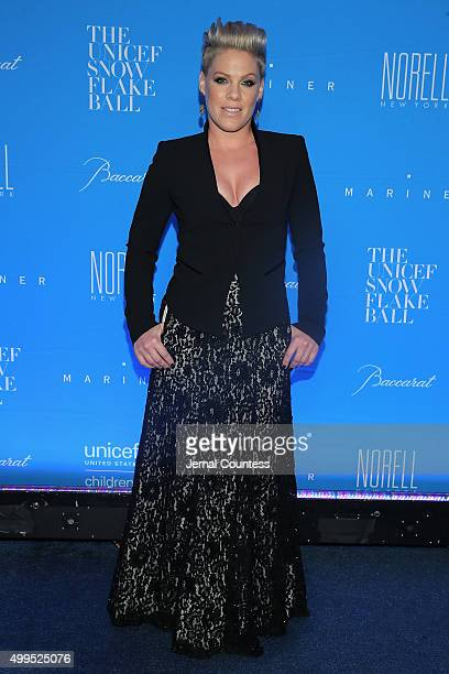 Performer recording artist Pnk attends the 11th Annual UNICEF Snowflake Ball Honoring Orlando Bloom Mindy Grossman And Edward G Lloyd at Cipriani...
