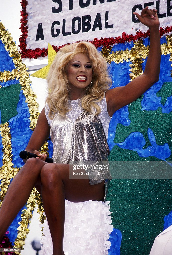 Performer RuPaul attends the Gay and Lesbian Pride Parade on June 12 1994 at Santa Monica Boulevard in West Hollywood California