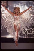 Performer RuPaul stands in costume at the 1995 VH1 Fashion and Music Awards December 3 1995 in New York City The awards which were broadcast live...