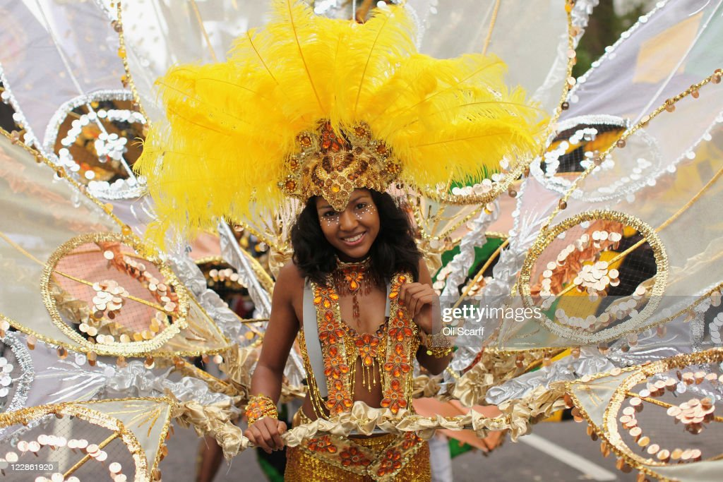 A performer takes part in the Notting Hill Carnival on August 29, 2011 in London, England. The annual carnival, which is the largest of its kind in Europe and is expected to attract around 1 million revellers, has taken place every August Bank Holiday since 1966.