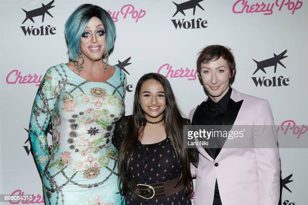 Performer Tempest Dujour YouTube Personality Jazz Jennings and Performer Detox attend the Cherry Pop Premiere at OutCinema Presented by NewFest and...
