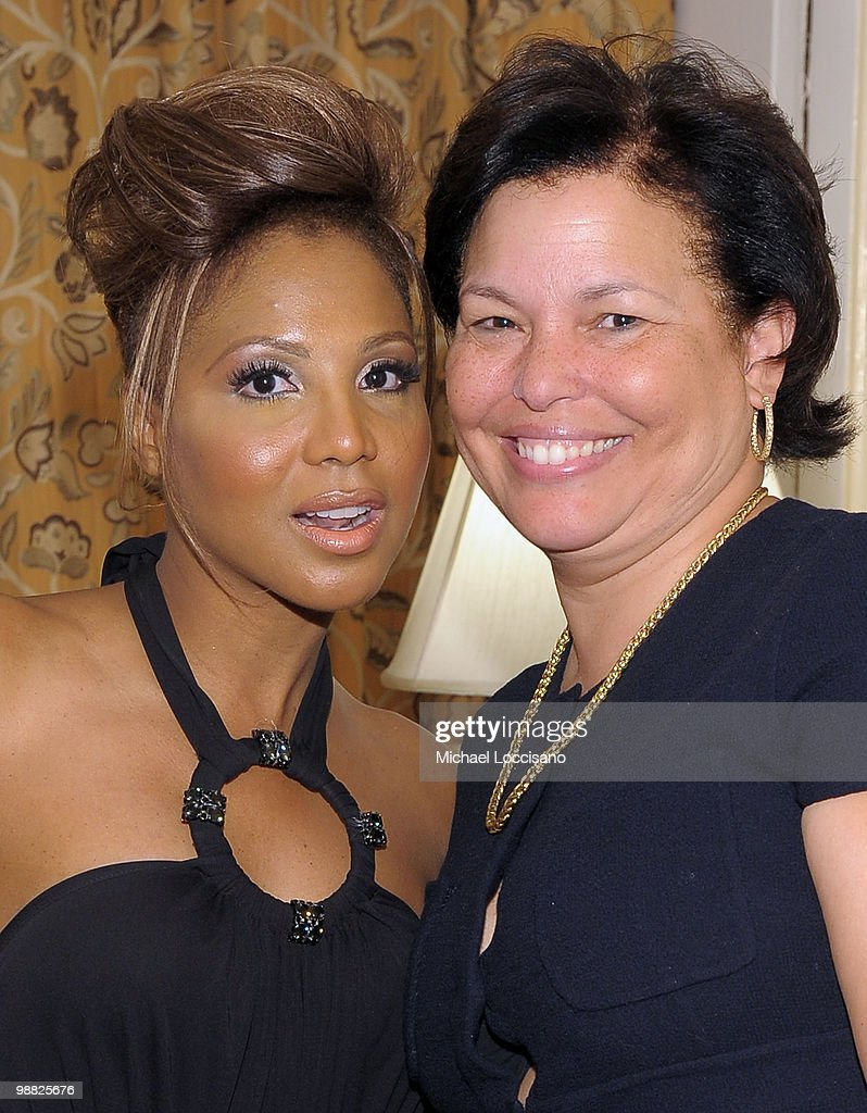 Performer Toni Braxton and President and Chief Operating Officer of BET Debra Lee attend the New York Gala benefiting The Steve Harvey Foundation at...