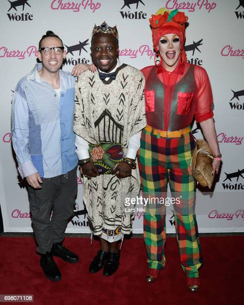 Performers Acid Betty Bob the Drag Queen and Thorgy Thor attend the Cherry Pop Premiere at OutCinema Presented by NewFest and NYC Pride at SVA...