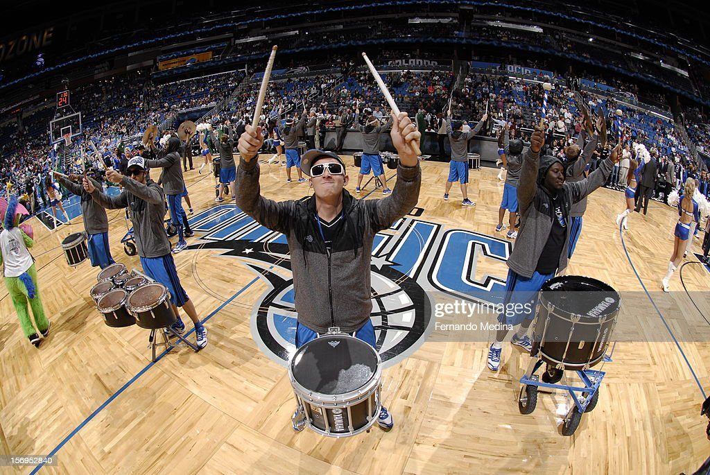 Performers are seen during the game between the Boston Celtics and the Orlando Magic on November 25, 2012 at Amway Center in Orlando, Florida.