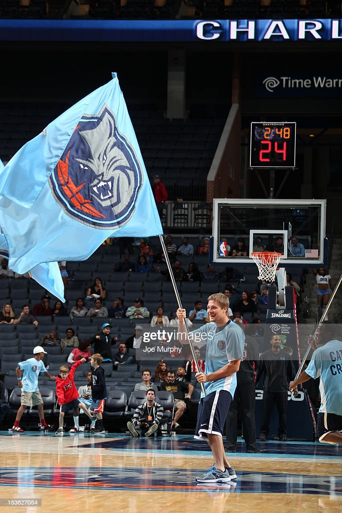 Performers are seen during the game between the Charlotte Bobcats and the Washington Wizards at the Time Warner Cable Arena on October 7, 2012 in Charlotte, North Carolina.