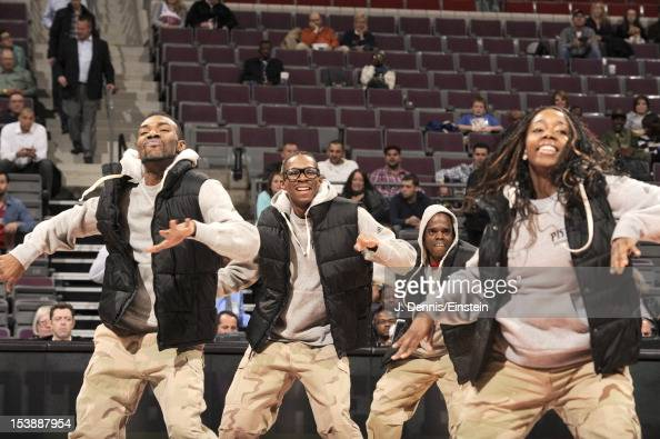 Performers are seen during the game between the Detroit Pistons and the Toronto Raptors on October 10 2012 at The Palace of Auburn Hills in Auburn...
