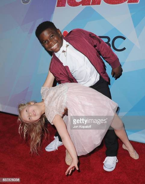 Performers Artyon and Paige arrive at NBC's 'America's Got Talent' Season 12 Live Show at Dolby Theatre on August 15 2017 in Hollywood California